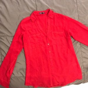 Express, portifino shirt, red